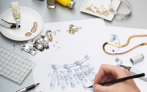 Workshop where exquisite jewellery such as the Swarovski skull is designed