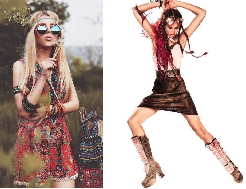 Traditional boho chic evolves into the edgy urban boho style.