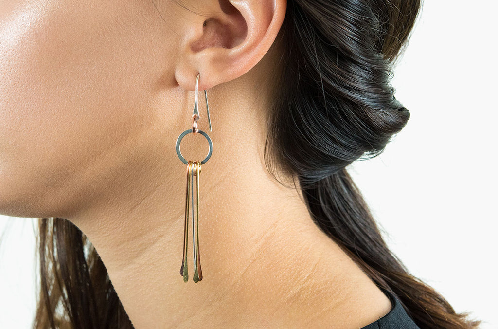 Artisan gyspy style boho earrings are a French girl style-staple