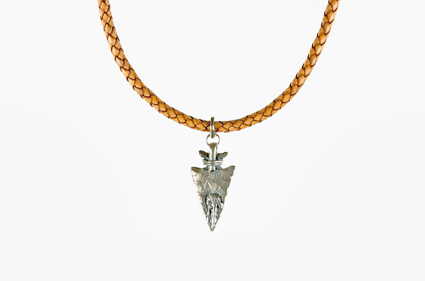 Custer's Last Stand. Arrow on leather necklace