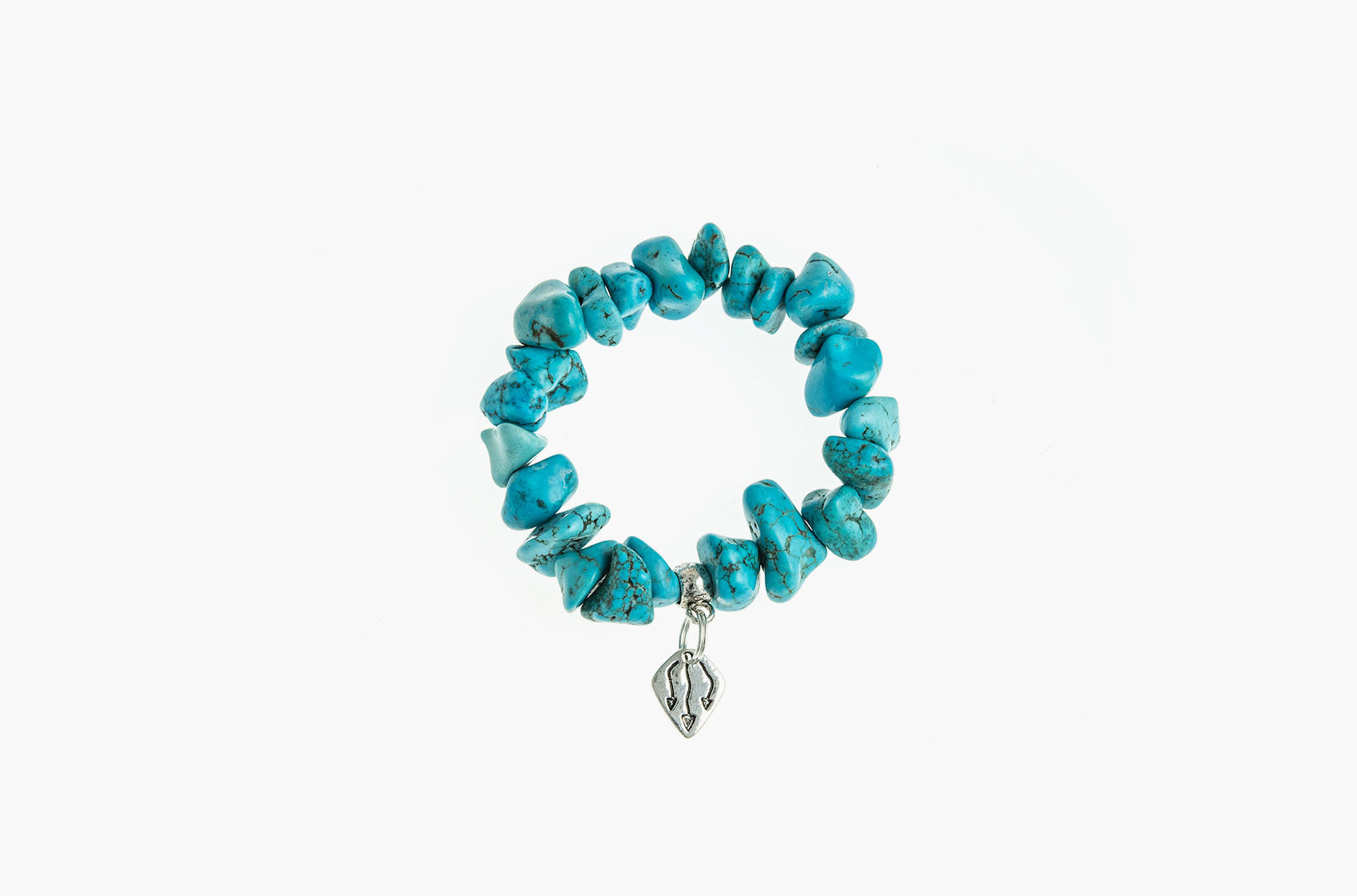 Pewter & Stone. Turquoise and pewter bracelet