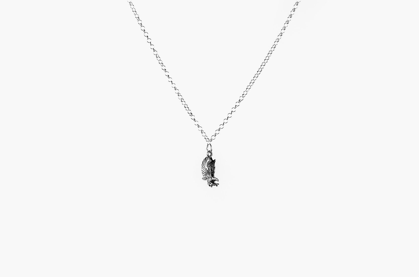 Prairie Pendant. Charm necklace in sterling silver