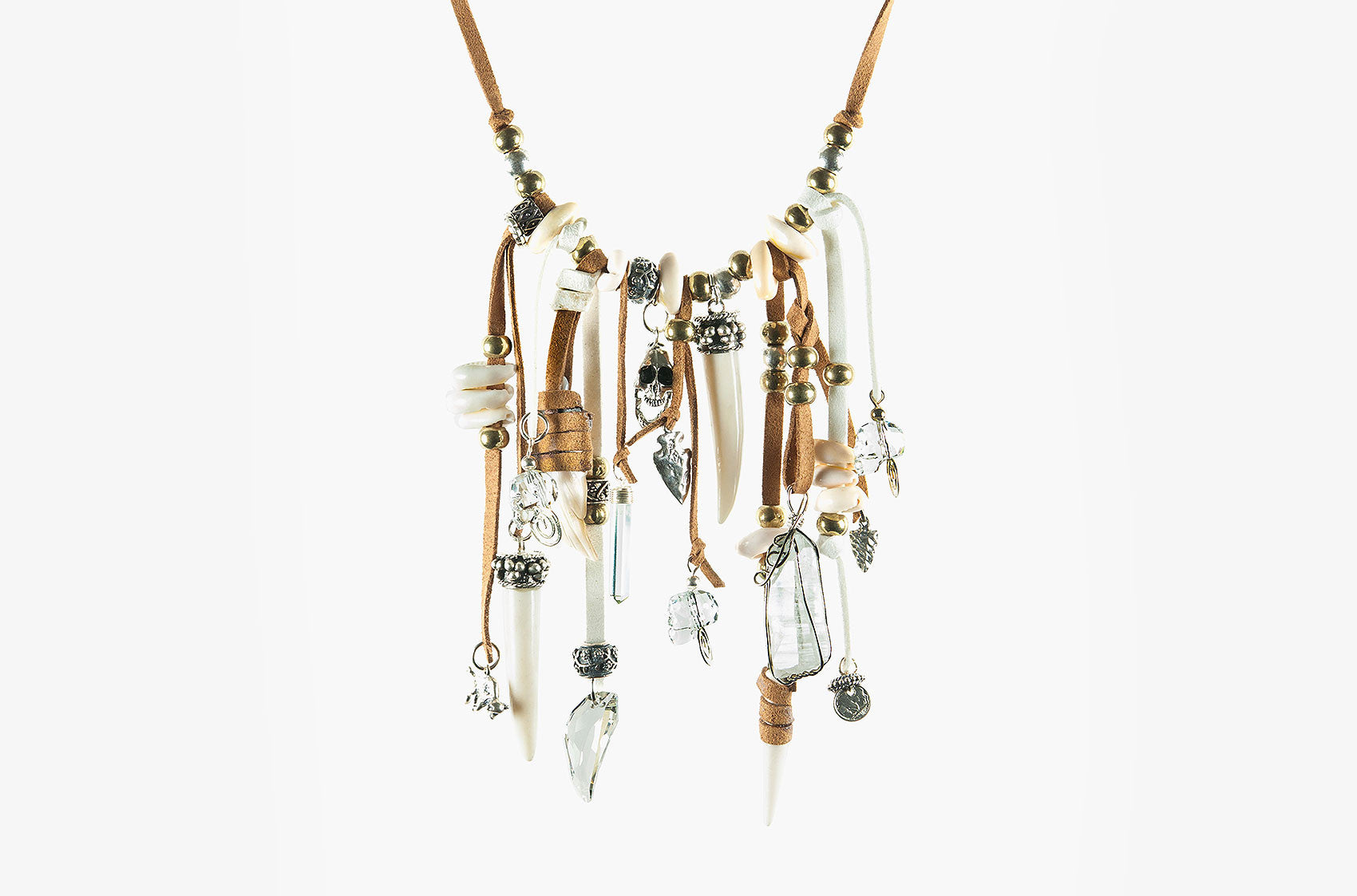Prairie Princess ornate necklace in tan