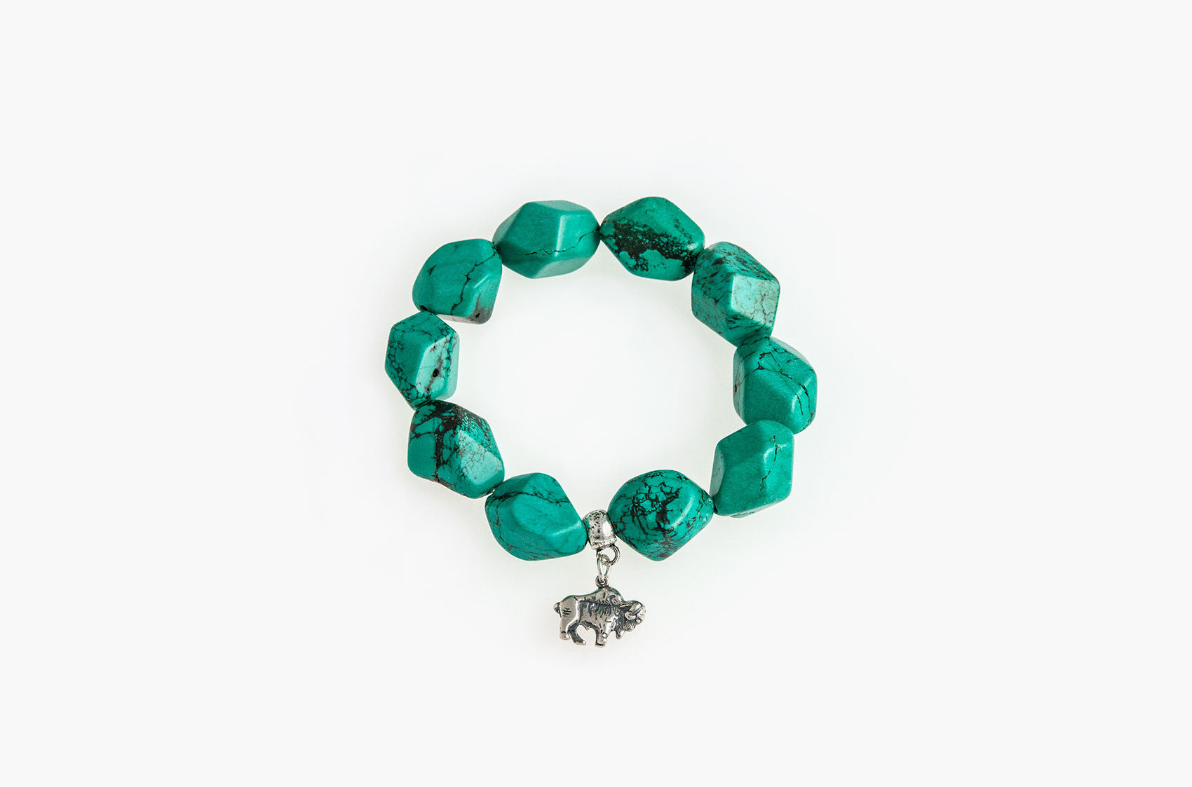 Serious Rocks. Super-size turquoise chunks bracelet