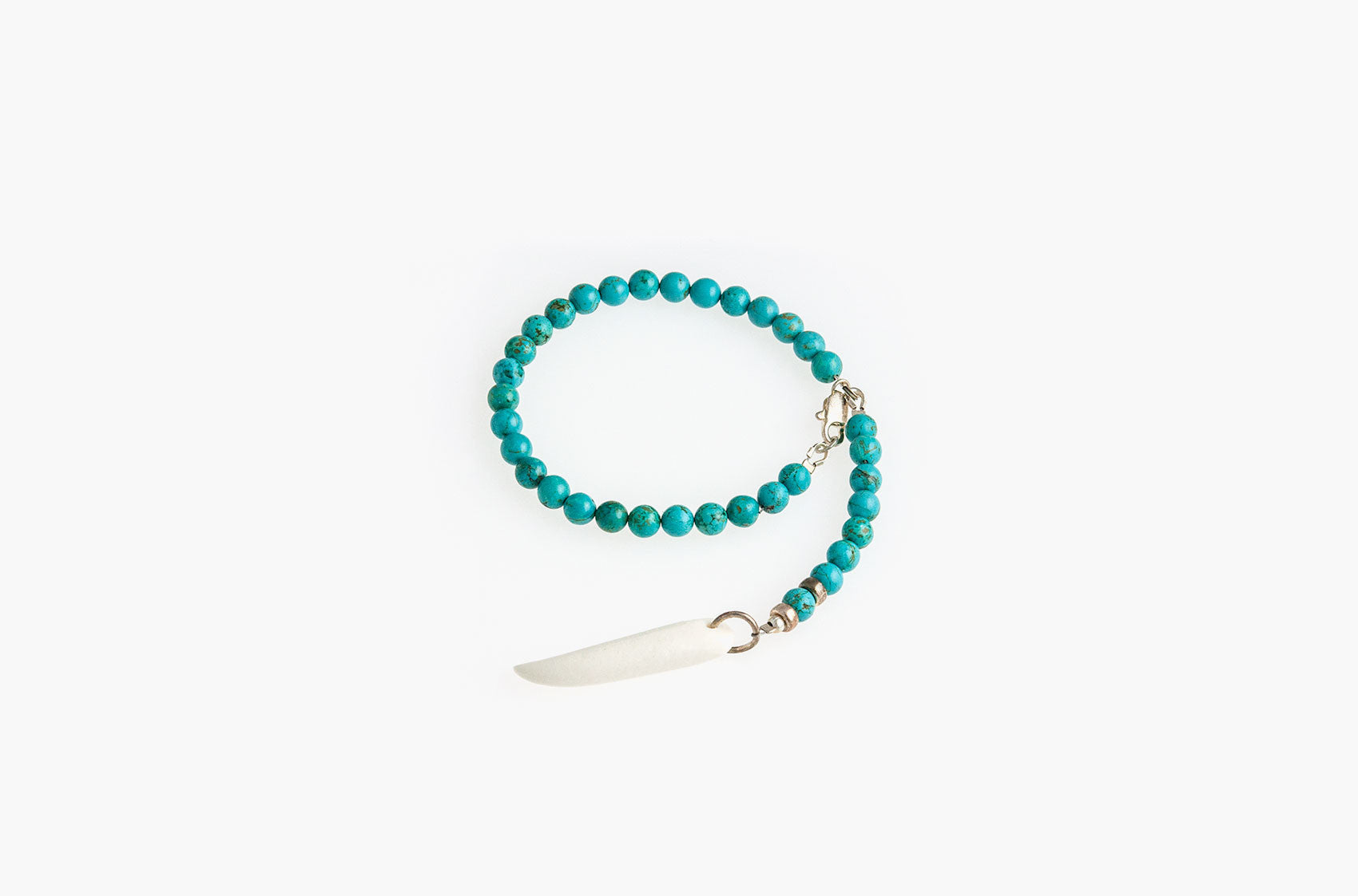 Stone and Bone. Turquoise and spike bracelet