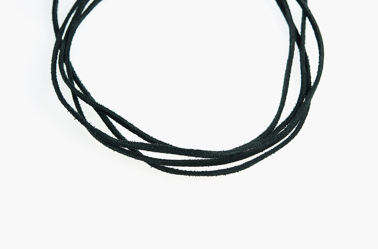 Wolf Tooth long wrap leather necklace back