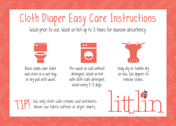 How to wash a Littlin cloth diaper