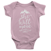 She Will Move Mountains Onesie