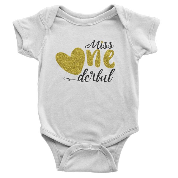 Miss One derful Birthday Onesie
