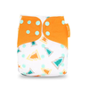Pocket Diaper - Pine Trees With Orange Tabs