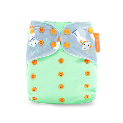 Pocket Diaper - Snowy Teal