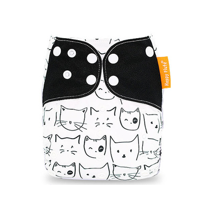 Pocket Diaper - Black Cats