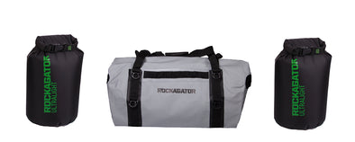Bundle Special Mammoth Series Waterproof Duffle Bag-Grey-90 Liter