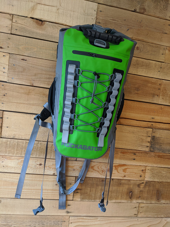 Rockagator Hydric Series 40 Liter Gator Green Waterproof Backpack