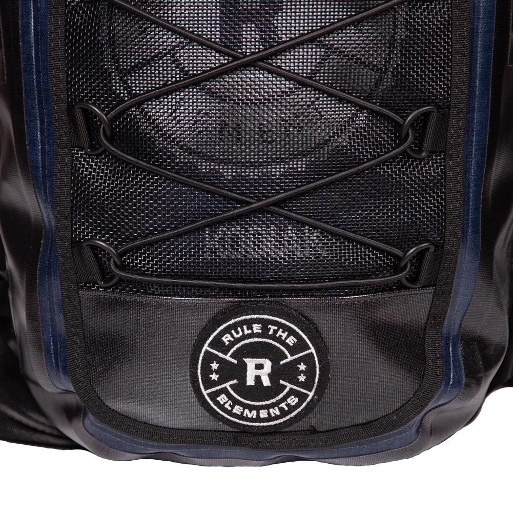 (BUY 1 GET 1) KODIAK Black & Blue 40-Liter TPU Extreme Weather Waterproof Backpack (2 KODIAK BACKPACKS)+Black Friday Bonus Phone Pouches