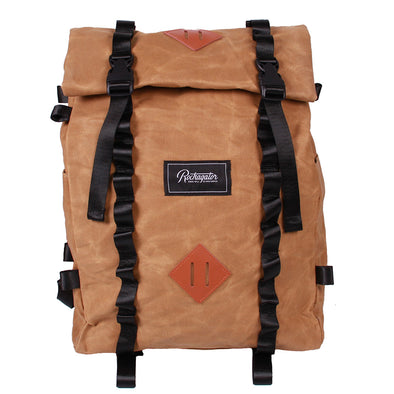 Bundle Special Rockagator LIFEstyle Phoenix Waxed Canvas Roll-Top Backpack and 2 Waterproof Phone Pouches
