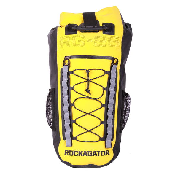The Rockagator RG-25 REFLECT is the best waterproof backpack for cycling, motorcycling, canyoneering, boating, day hiking, fly fishing or any activity where you might be subjected to the elements.