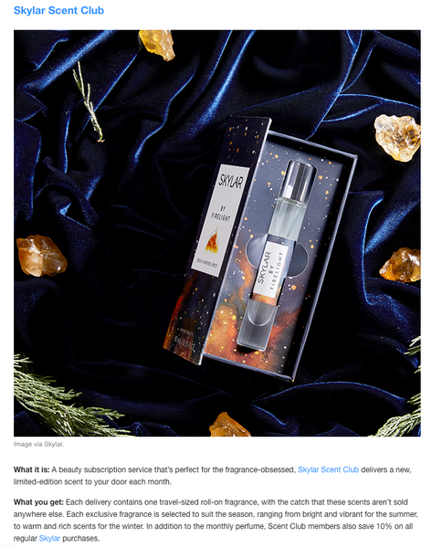 Yahoo Style Names Skylar Scent Club as Best Beauty Subscription Box