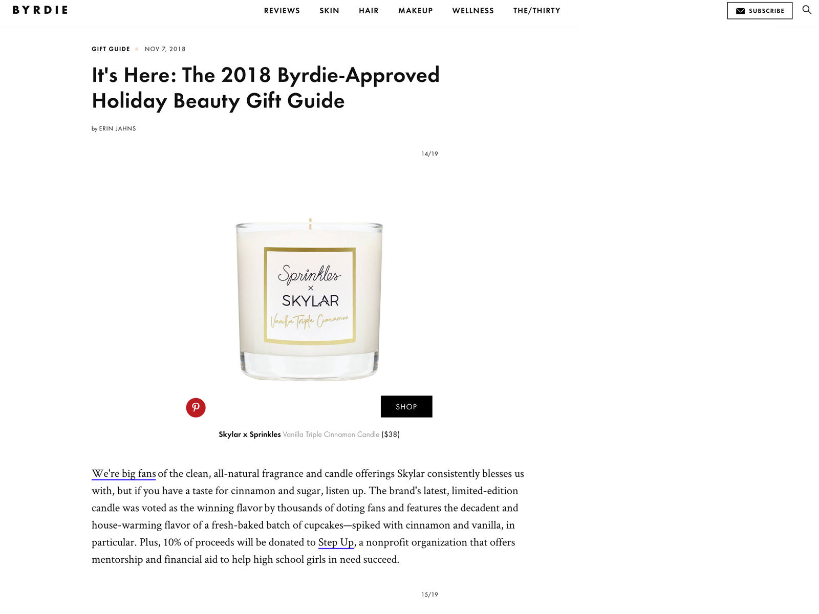 Skylar Press: 2018 Byrdie-Approved Holiday Beauty Gift Guide