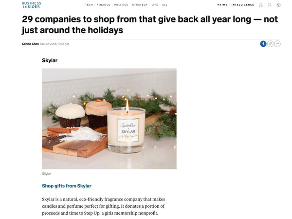 Business Insider: Shop Clean Skylar Body & Give Back All Year Long