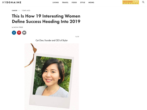 My Domaine: Skylar Founder Cat Chen Defines Success
