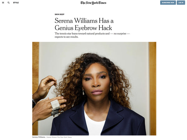 New York Times: Skylar's Clean Line | Serena Williams Investor in Brand