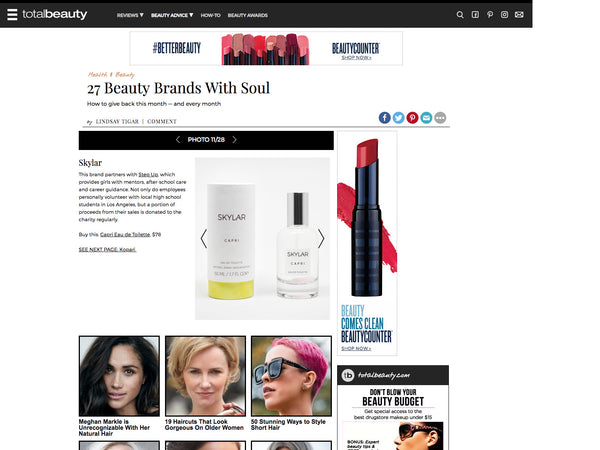 Total Beauty: Clean Skylar Brand Partners with Step Up | Skylar Press