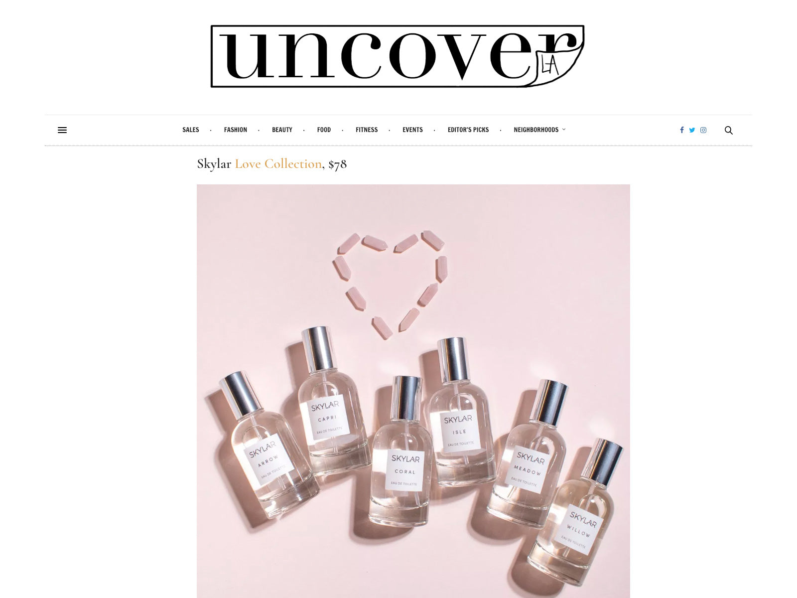 Uncover LA: Skylar Clean Fragrance Supports Breast Cancer Research