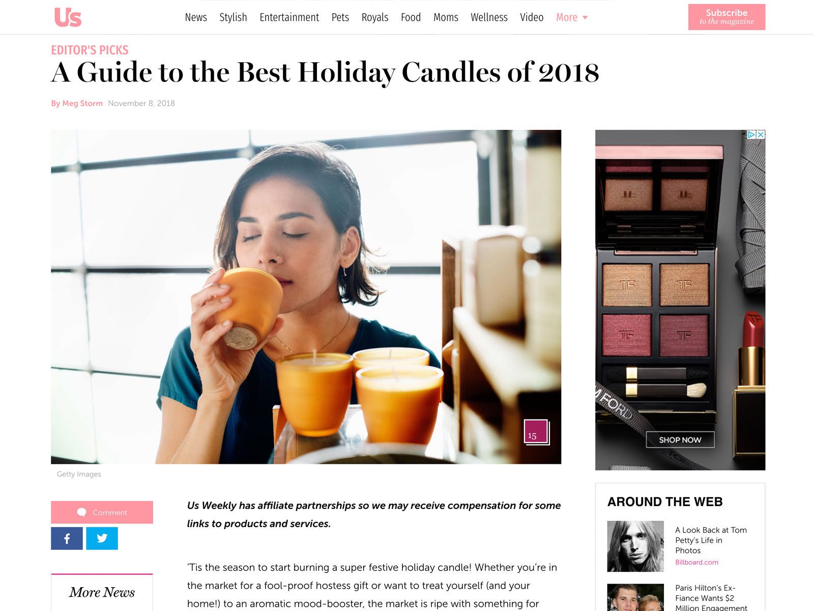 Us Magazine: A Guide to the Best Holiday Candles
