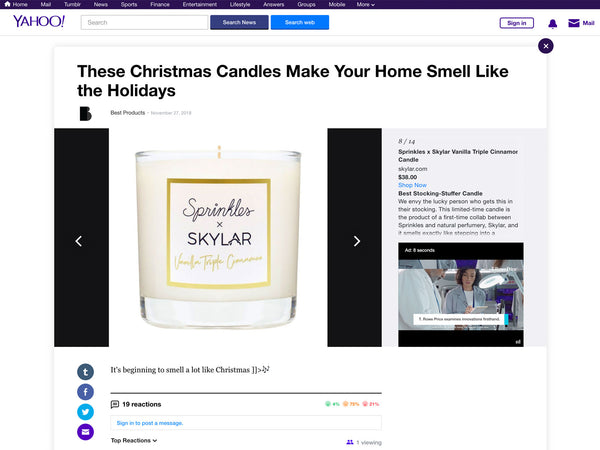 Skylar Candles Smell Like the Holidays - Yahoo