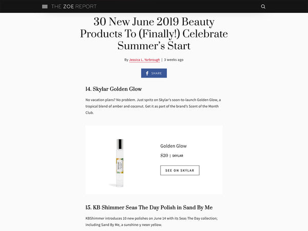 The Zoe Report: Beauty Products to Celebrate