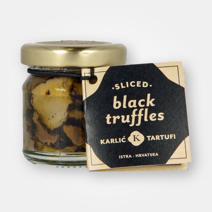Sliced Istrian Black Summer Truffles