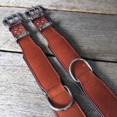 Leather Dog Collar - Classic Dog Collar (Brown)