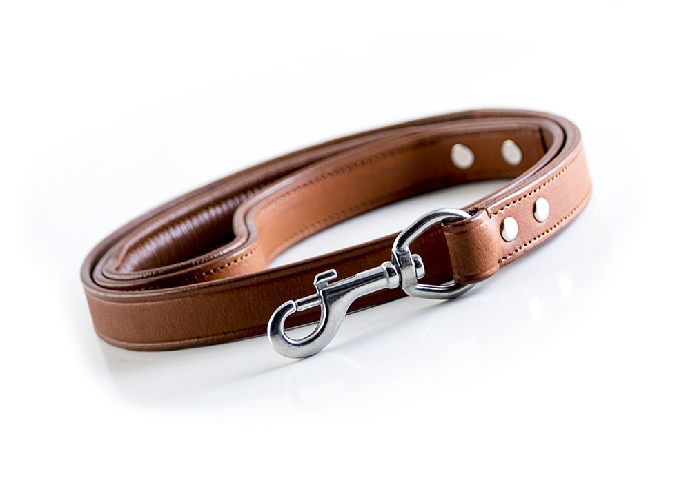 Leather Dog Leash - Classic Brown