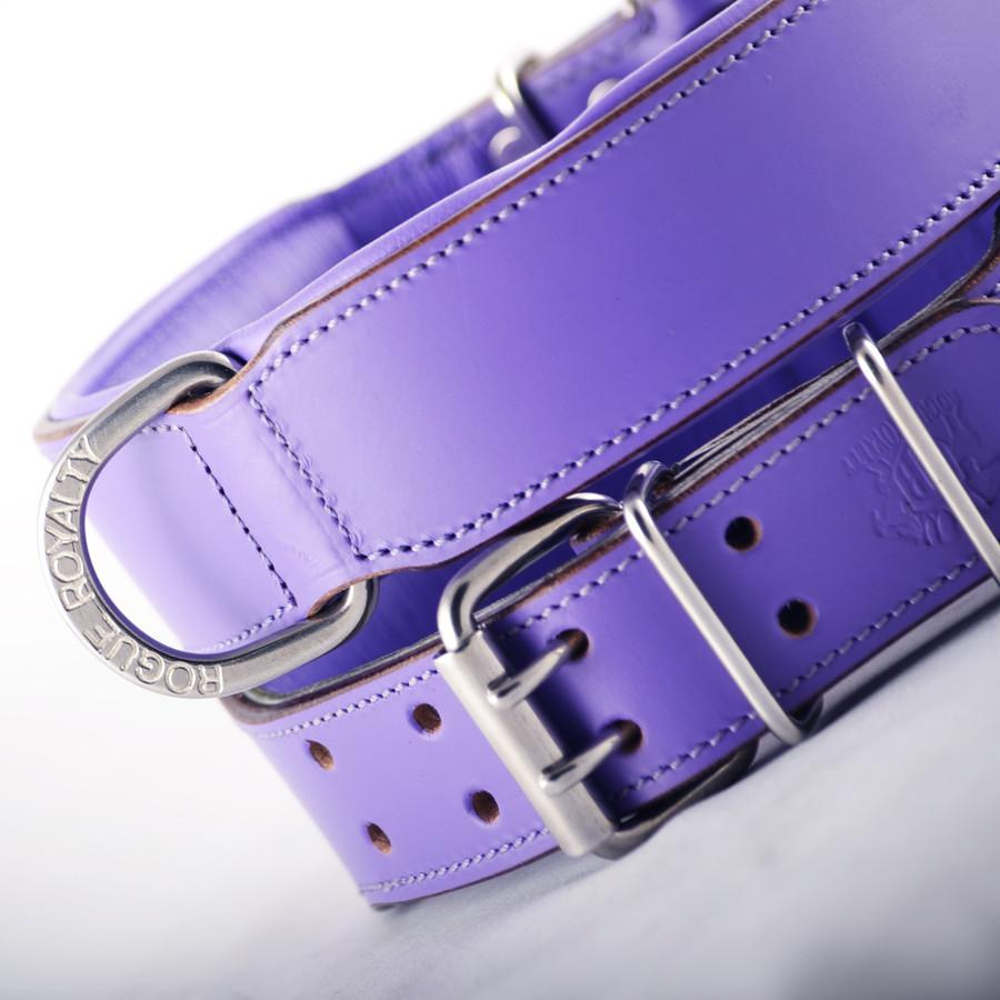 Leather Dog Collar - Purple Classic