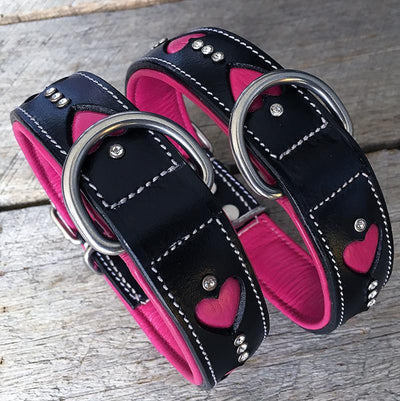 Dog Collar - Queen of Hearts (Slimline)