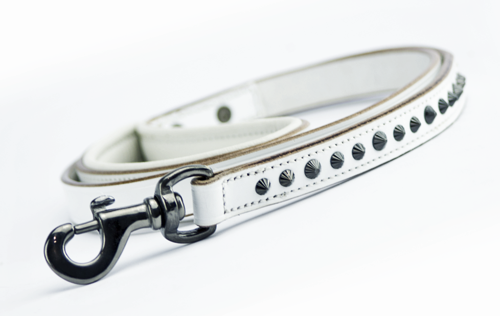 Dog Leash - Ruthless White & Black Leash Slimline