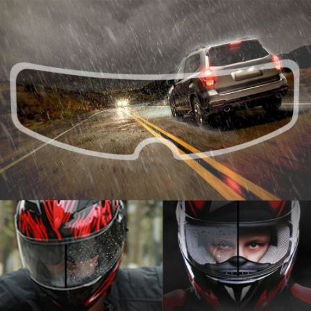 Rain Clear Helmet Film