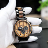 Rosewood Chronograph Watch