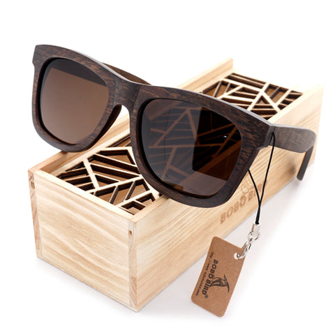 Men's Retro Wooden Bamboo Sunglasses