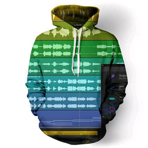 Dj Concert 3D All Over Print Hooded sweatshirt