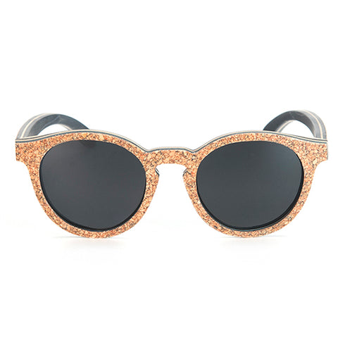 BOBO BIRD UNISEX SUNGLASSES WOODEN CORK FRAME POLARIZED SUN GLASSES