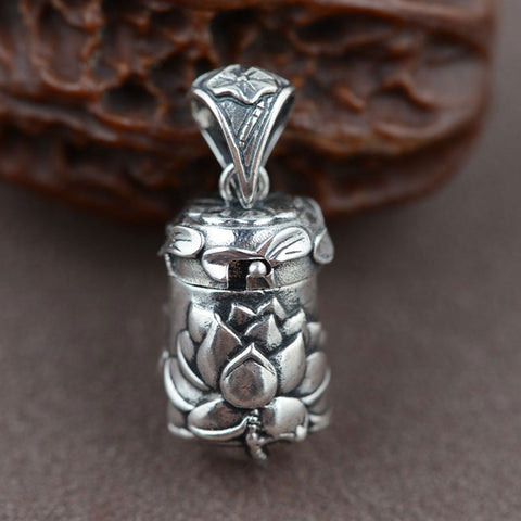 925 Sterling Silver Lotus Pendant 100% Real Pure Genuine S925 Thai Silver Pendant