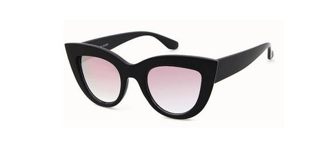 CAT EYE SUNGLASSES FOR WOMEN PINK MIRROR SHADES FEMALE SUN GLASSES