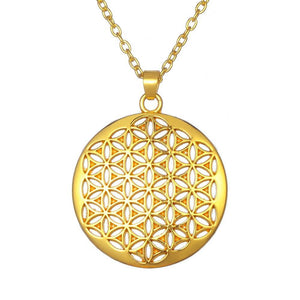 Silver Tone Flower of Life Necklace & Pendant
