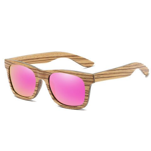 EZREAL New Polarized Men's Brand Mirror Eyewear Wooden Sun Glasses Women Men Brand Wood Sunglasses Bamboo For Friends as Gifts
