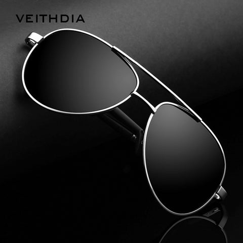 MEN'S SUNGLASSES BRAND DESIGNER PILOT POLARIZED MALE SUN GLASSES