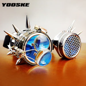 YOOSKE Retro Steampunk Sunglasses Men Women Goggles Steam Punk Sun Glasses for Halloween Cosplay Party Glasses Vintage Eyewear