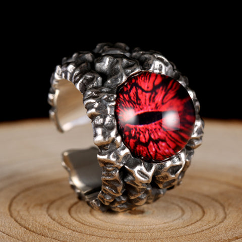 COOL GHOSTS EYES 2 COLORS ROSE RED YELLOW STONE RINGS