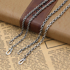 100% Real 925 Sterling Silver Zodiac Long Chain Necklace Pendant